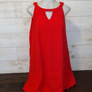 Hope & Harlow Red Halter Cut Out Sleeveless Dress